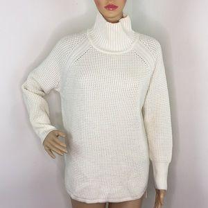 Banana Republic Petite Cream Knit Sweater